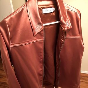 Sincerly Jules Jackets & Coats - Sincerely Jules Rosie Satin Copper Jacket